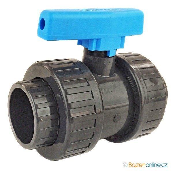 Kulový ventil PVC 63 mm Plimex lepení/lepení