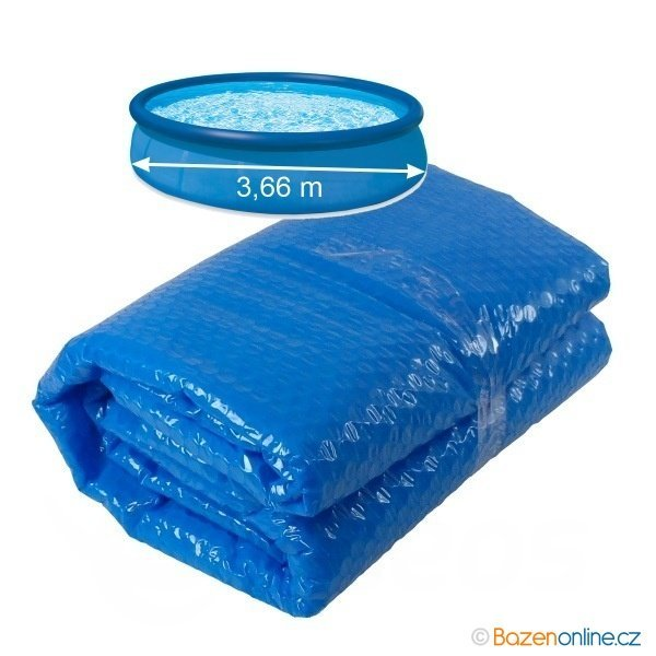 Solární plachta 300 cm modrá pro nafukovací bazény 366 cm