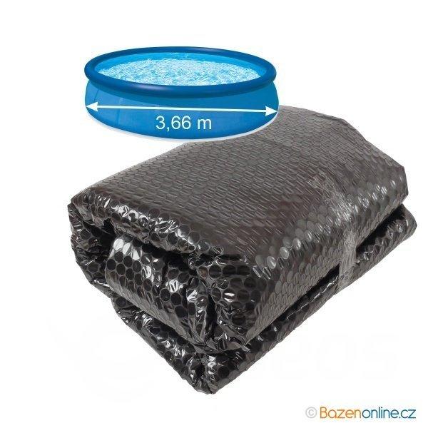 Solární plachta 300 cm černá pro nafukovací bazény 366 cm