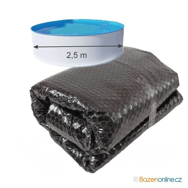 Solární plachta na bazény černá kruh 250 cm