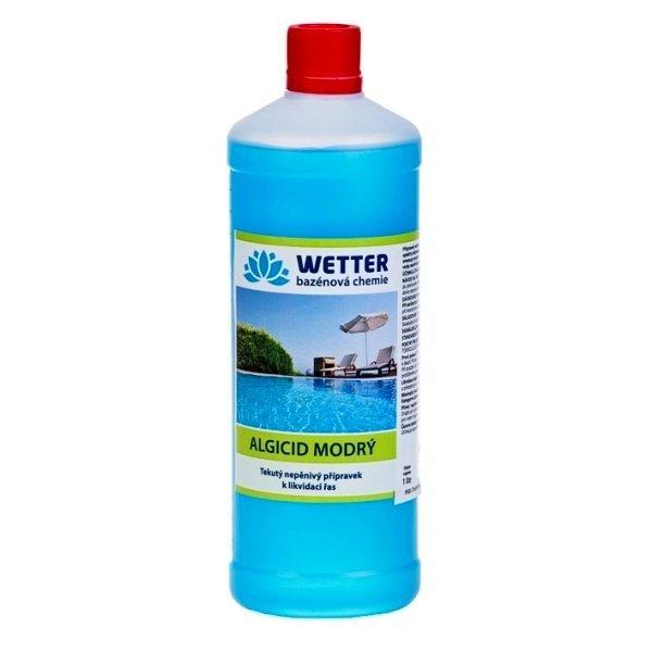 Algicid modrý - tekutý nepěnivý přípravek na likvidaci řas 1 litr