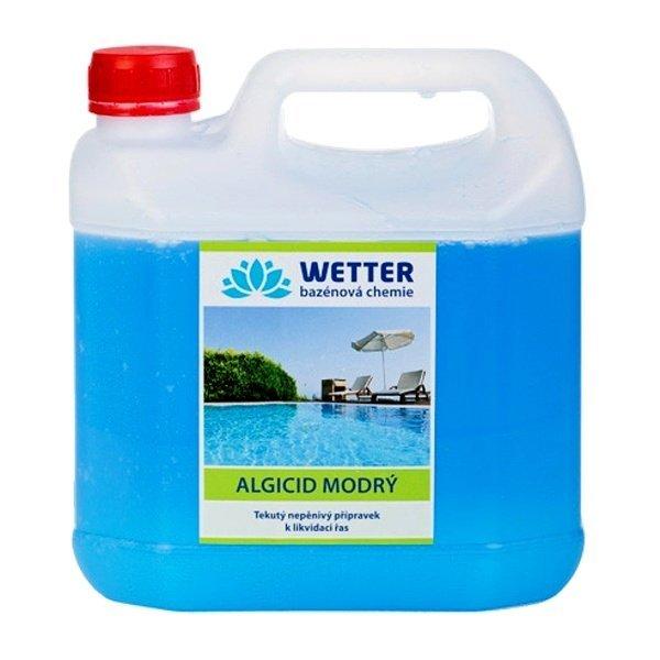 Algicid modrý - tekutý nepěnivý přípravek na likvidaci řas 3 litry