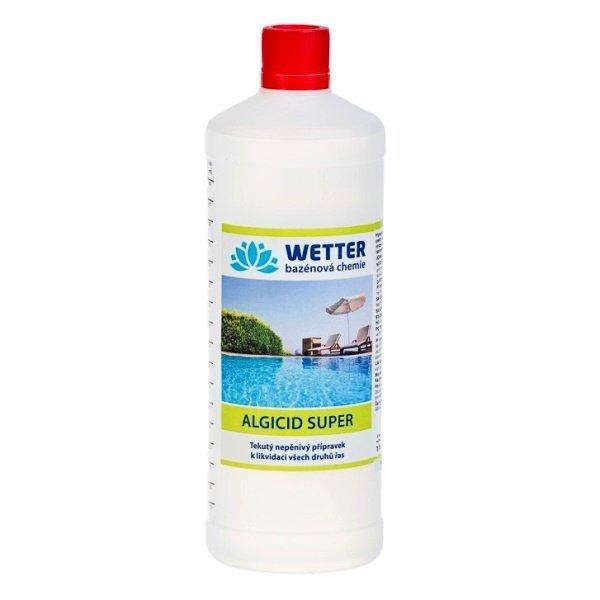 Algicid SUPER - tekutý nepěnivý přípravek k likvidaci všech druhů řas 1 litr