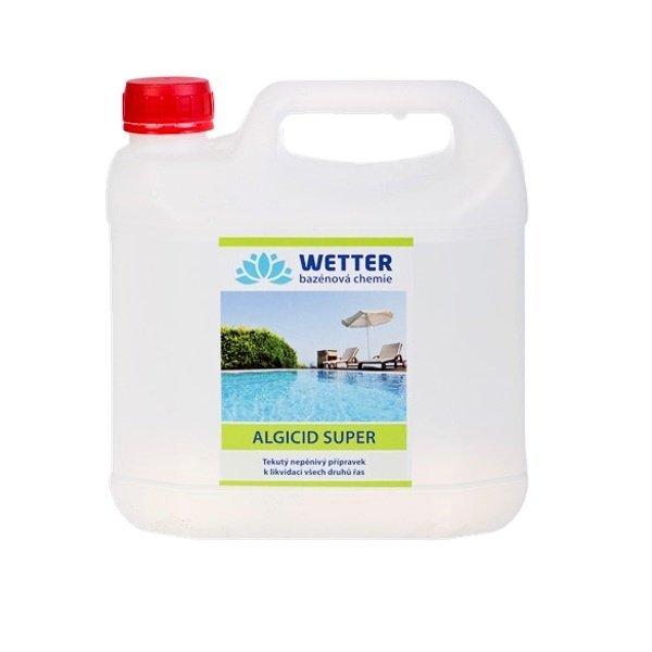 Algicid SUPER - tekutý nepěnivý přípravek k likvidaci všech druhů řas 3 litry