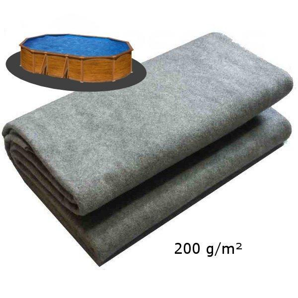 Podložka pod bazén 5,5 x 3,7m 200g/m2 ze dvou kusů