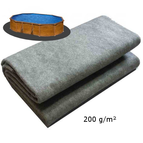 Podložka pod bazén 7,3 x 3,7m 200g/m2 ze dvou kusů