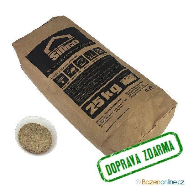 Filtrační písek 0,4 - 0,8 mm 25kg