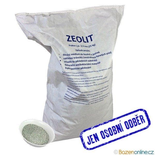 Zeolit 1 - 2,5 mm 25kg - pouze pro osobní odběr