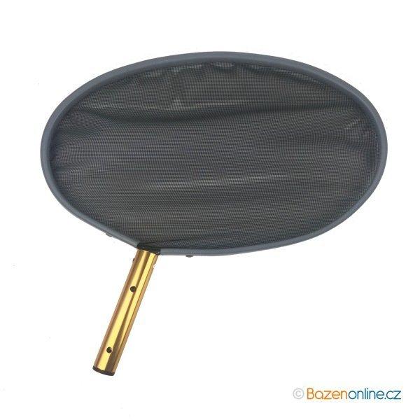 Oválná bazénová síťka s hliníkovým rámem černá