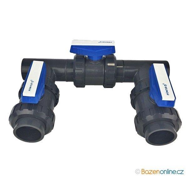 Bypass obtok PVC 50 mm pro bazénové rozvody