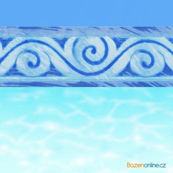 Dekorační nálepka na linku bazénu