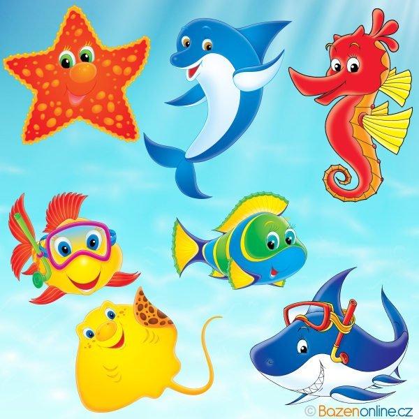 Sada bazénových nálepek pro děti