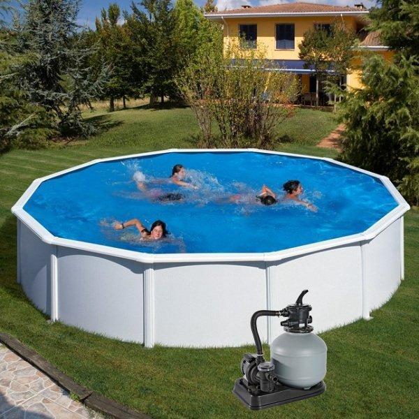 Nadzemní bazén GRE Fidji kruh 5,5 x 1,32 m s pískovou filtrací