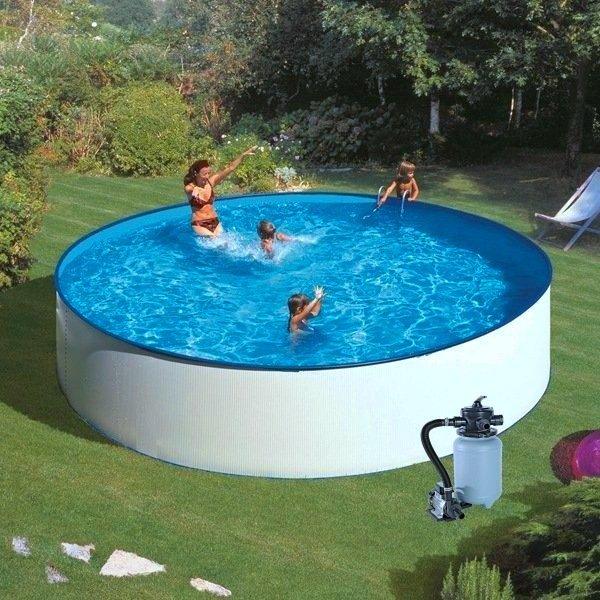 Plechový bazén GRE Splash 3,5 x 0,9 m s filtrací