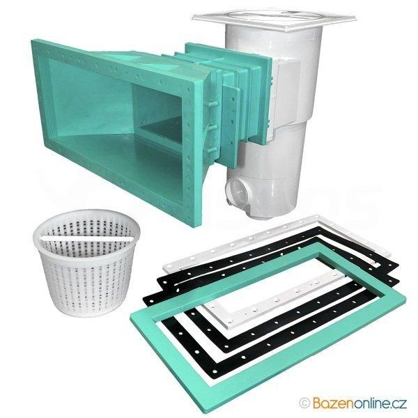 Skimmer Procopi široký pro foliované bazény zelený