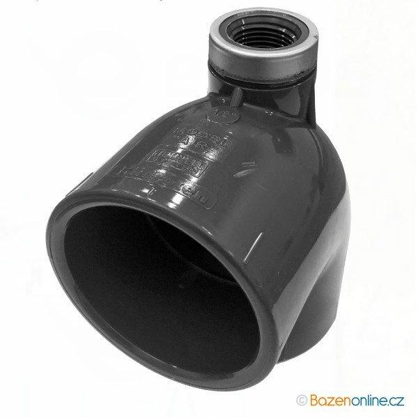 """Koleno 90° PVC 50x50 mm lepení/lepení, horní závit ½"""""""