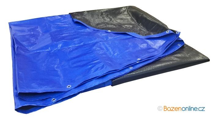 Zimní bazénová plachta modro - černá