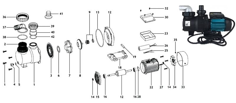 Náhradní díly pro čerpadlo ESPA Niper 450M