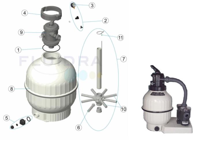 Náhradní díly pro filtraci Cantabric 600 TOP ventil