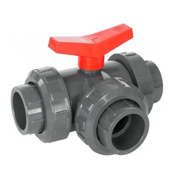 Kulový ventil trojcestný PVC 63 mm