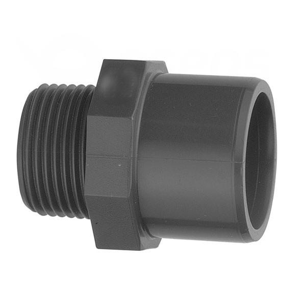 """Nipl – přechodka PVC 63 mm lepení/vnější závit 2"""""""