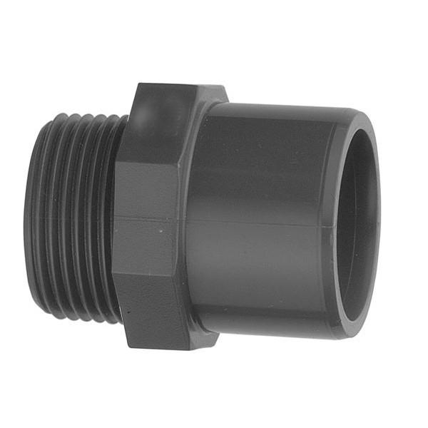 """Nipl – přechodka PVC 50 mm lepení/vnější závit 2"""""""