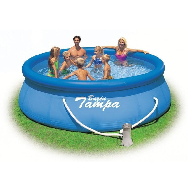 Nafukovací bazén Tampa 366 x 91 cm s kartušovou filtrací