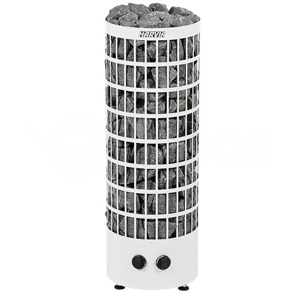 Saunová kamna Harvia Cilindro 7 kW bílá s vestavěným ovládáním