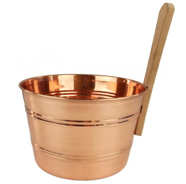 Měděné vědro do sauny 4 litry
