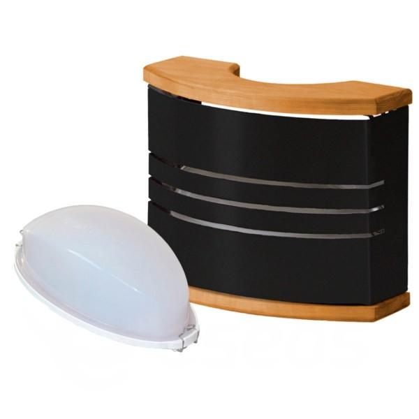 Světlo do sauny Harvia černé se stínítkem