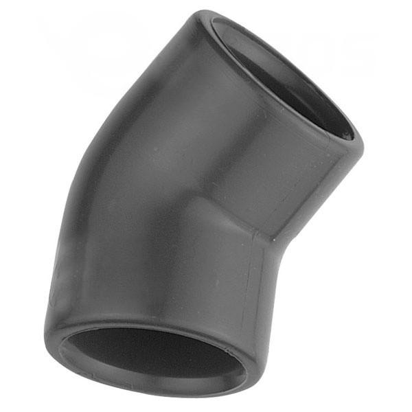 PVC bazénové koleno 45° 75 mm - lepení/lepení