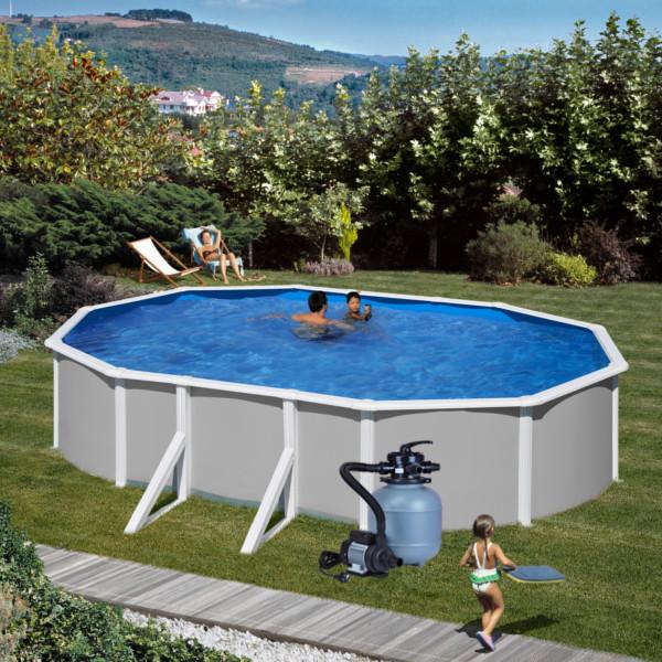 Nadzemní bazén Feeling ovál 5 x 3 x 1,2 m set s filtrací