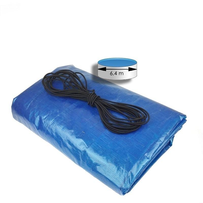 Krycí plachta modrá 7,2 m na bazén průměru 6,4 m