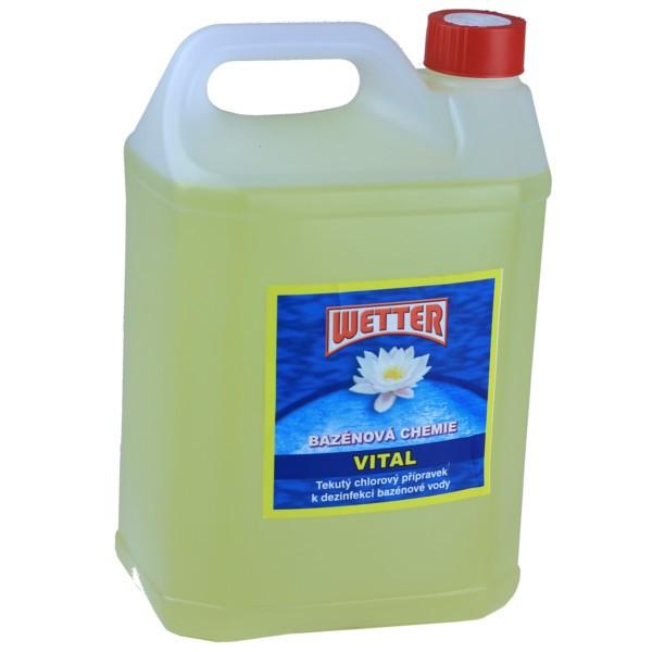 Tekutý chlor do bazénu balení 5 litrů