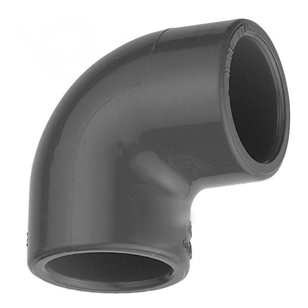 """Koleno 90° PVC 50 x50 mm lepení/vnitřní závit 1 1/2"""""""