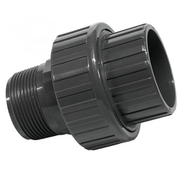 """Šroubení PVC 50 mm lepení/vnější závit 1 1/2"""""""
