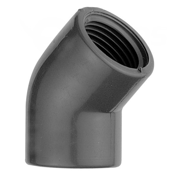 """Koleno 45° PVC 50 x 50 mm lepení/vnitřní závit 1 1/2"""""""