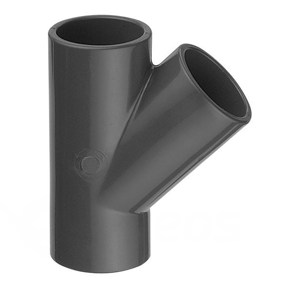 T – Kus 45° PVC 50x50x50 mm lepení/lepení