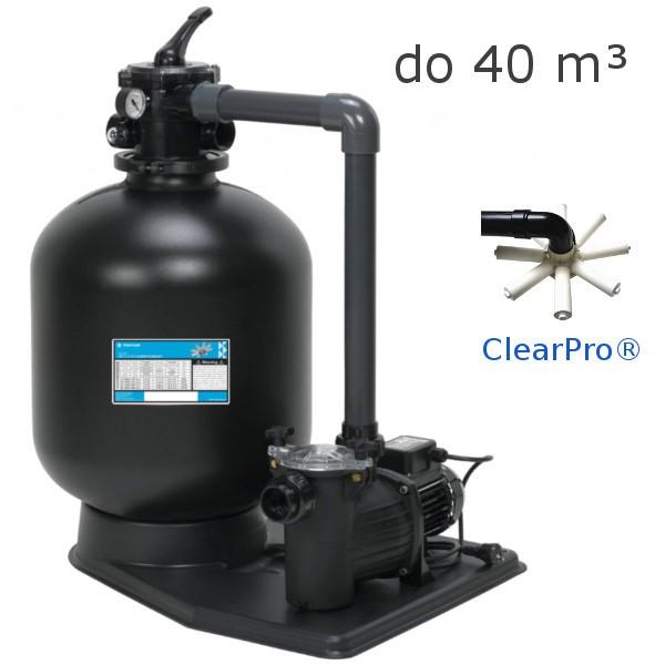 Písková filtrace AZUR Clear Pro KIT 480, 9 m3/h