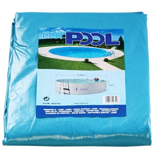Náhradní fólie pro bazén kruh 3,6 x 1,1 m - 0,3 mm modrá