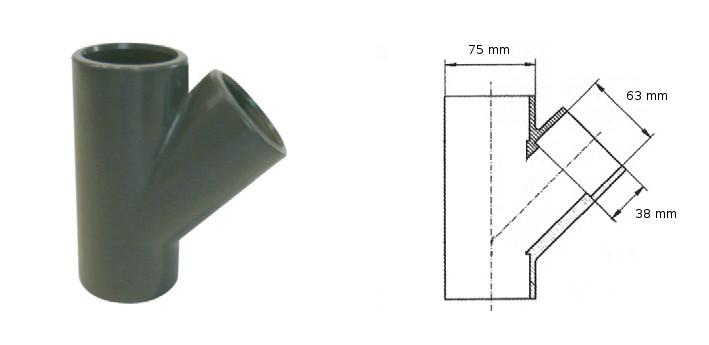 instalační materiál T-kus PVC